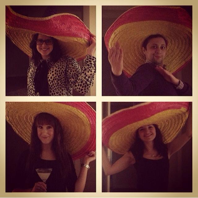 Mexikansk kväll hos mig med teamet.