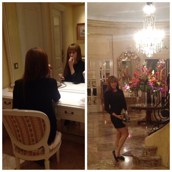 Vi tog en drink på Palace Hotel efter middagen, och besökte deras badrum och lobby :)