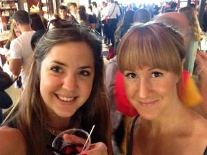 Sara och jag i saluhall i Madrid